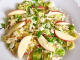 Simple sweet brussel sprout & apple salad