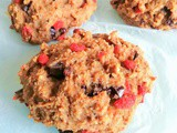 Spiced chocolate goji berry workout scones