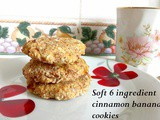 Super cheap & soft cinnamon banana cookies