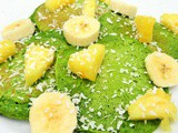 Tasty tropical secret spinach pancakes