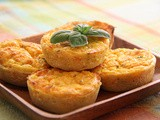 Mini Pumpkin Quiches with 3 types of Cheese