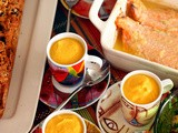 Pumpkin soup with Coconut Milk, Lemon and Curry