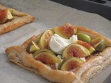 Quick Figs and Goat Cheese Honey Tart
