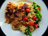 Dried Cranberry and Walnut Encrusted Fish