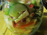 Thanksgiving Recipes: Cucumber and Apple Pickles