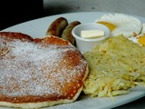 Eat-All-You-Can Buttermilk Pancakes at Charlie's Grind & Grill