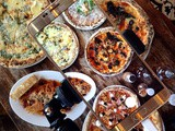 Flatlay Conversations: Four Pizzas for FourScene at Nonna's Pasta & Pizzeria