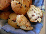 Banana Cream Chocolate Chip Muffins