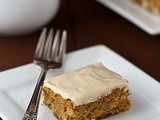 Maple Blondies with Maple Butter Frosting