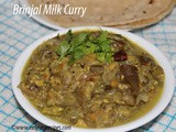 Brinjal Milk Curry Recipe How to make Brinjal Milk Curry