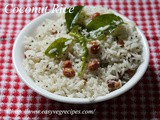 Coconut Rice Recipe How to make Coconut Rice Festival Special