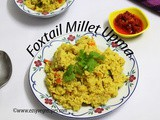 Foxtail Millet Upma Recipe How to make Foxtail Millet Upma