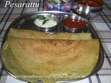Pesarattu Recipe How to make Dosa with Green Gram Recipe Andhra Style Pesarattu Recipe Mung Bean Dosa