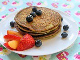 Egg Free Sugar-Free Watercress Banana Pancakes