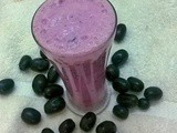 Black grapes lassi