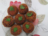 Crunchy beetroot cutlet