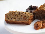 Dates and fig cake / egg-less dates cake / egg free dates and fig cake / dates loaf / whole-wheat flour dates cake / khajoor anjeer cake