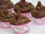 Egg-less chocolate cupcake with buttercream frosting