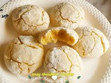 Eggless lemon crinkle cookies / eggless lemon cookies