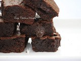 Lava brownie / whole wheat flour brownie / chocolate brownie