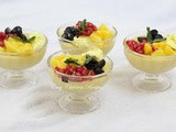 Mango pudding / egg-less mango pudding / gelatin free mango pudding