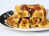 Paneer rolled french toast / paneer french toast
