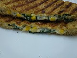 Spinach corn sandwich / spinach corn cheese sandwich