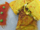 Stuffed moong dal chila