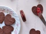 Chocolate Raspberry Sandwich Cookies