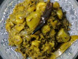 Banana Flowers Curry With Shrimp/Bengali Mocha Chingri