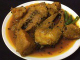 Hilsha Fish With Pumpkin/Kumro Illish