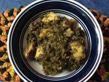 Mustard leaves/Greens Curry (Bengali Style)/ Sorshe Shak Ghonto