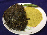 Non Veg. Side Dish With Jute Leaves/Pat Shak/Healthy Dish