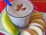 Banana Apple Smoothie / Healthy BreakFast Recipe/Energy Booster Shake