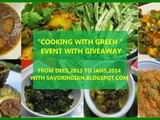 Event Announcement  Cooking with Green  event with Giveaway