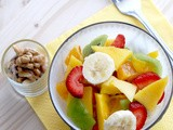 Healthy breakfast fruit bowl