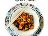 15 Minutes Spicy Soy Ginger Tofu with Cashews