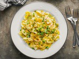 Bowtie Pesto Pasta with Zucchini and Peas