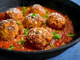 Cauliflower Meatballs in Marinara Sauce – Vegan, Air Fryer, Baked