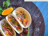 Duck Taco with Spicy Orange-Cherry Salsa