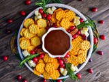 Easy Holiday Snack Platter + Homemade Chocolate Sauce Recipe