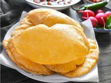 Instant Bread Bhatura (Fried Indian Puffed Bread)