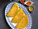 Instant Multigrain Pesto Dosa (Savory Indian Crepes)