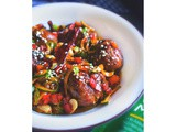 Kung Pao Chicken Meatballs with Zoodles