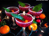 Pomegranate New Year's Punch (with Rum and Vodka)