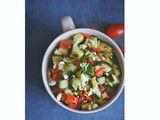 Quick Cucumber Tomato Zaatar Salad with Honey-Citrus Dressing (gf)