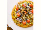 Quick Pesto Mushroom Flatbread Pizza