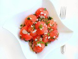 Quick Watermelon Salad with Feta Mint and Basil