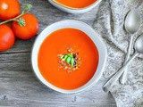 Roasted Red Pepper Soup with Tomato & Carrot (v+gf)
