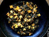 Sauteed Spinach with Cheese (Dry Palak Paneer)